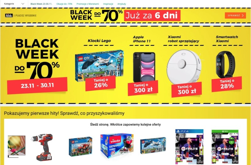 Black Week I Black Friday Na Allegro Promocje Nawet Do 70 Terazraciborz Pl